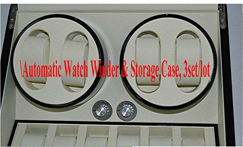 Preisvergleich Produktbild Gowe Top Qualität 201372561degsin Automatische Uhrenbeweger und Speicherung Fall, 3Set/lot