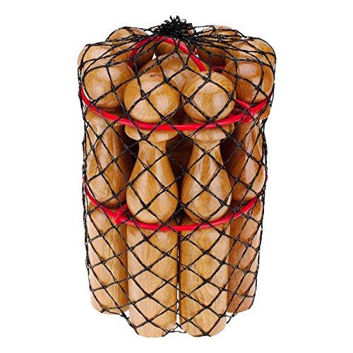 GICO Kegelspiel Kegel Set Bowling aus Holz für Kinder und Erwachsene - Massivholz 30 cm - 3019