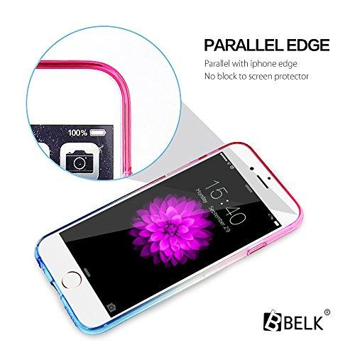 iPhone Case 6S / iPhone 6 cas, BELK Ultra Soft exacte-Fit Case de gel lastique Slim Cristal TPU avec des dgrads de conception pour iPhone 6S (4.7) Cas (jaune clair) pink blue