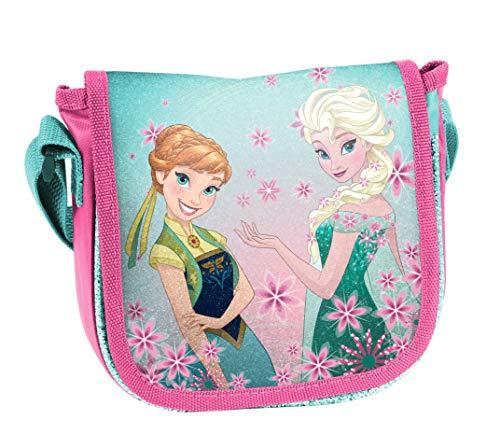 Ragusa-Trade Disney Frozen - Die Eiskönigin, ELSA Anna Olaf, Handtasche Schultertasche Umhängetasche (DRL), blau/rosa, 17 x 15 x 4 cm (Frozen Olaf-geldbörse)