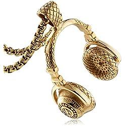 Aienid Bijoux Acier Inoxydable Or Collier pour Adultes L'Obtention du Diplôme Collier Taille:4.1X5.9CM Poids:75GR