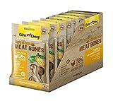 GimDog Superfood Meat Bones Hühnchen mit Banane und Sellerie | Mono-Protein Hundesnack mit hohem Fleischanteil | ohne Zuckerzusatz | 8 Beutel (8 x 70 g)