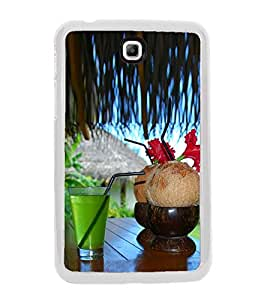 PrintVisa Relaxation High Gloss Designer Back Case Cover for Samsung Galaxy Tab 3 (8.0) T310 T311 T315