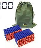 Nerf Darts Soft Foam Nerf Bullets 100 PCS Refill Pack for Nerf N-Strike Elite Series Blasters Toy Gun - Blue with Storage Bag