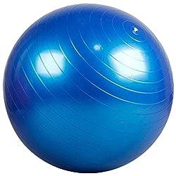 Partiss Fitness Yoga Redondo Gymnastikball Pilatesball Sitzball Roll (Blau, 75cm)