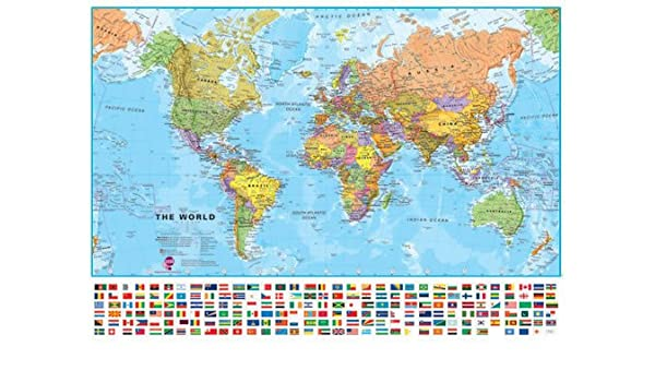 Maps International Large World Wall Map (political) - with ...