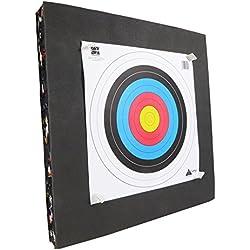 Refo Kit Cible en Mousse recyclée 60x60x8 cm - pour Le tir à l'Arc de Loisir ou Le Pistolet arbalète
