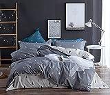 Topmail Copripiumino matrimoniale king 240x220cm con 2 federe 65x65cm set 3 pezzi biancheria da letto in cotone 200TC