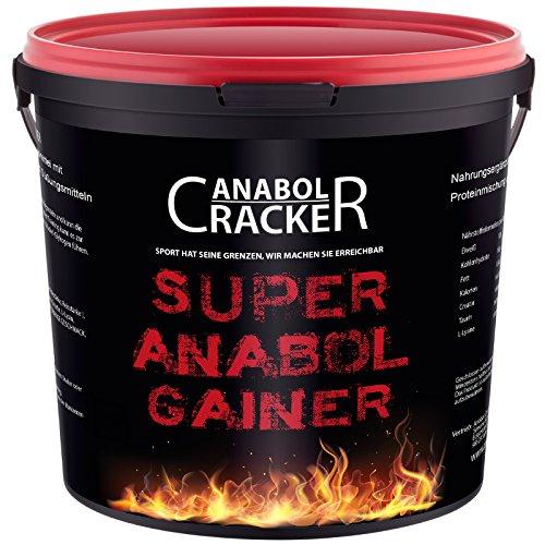Super Anabol Gainer, Whey Protein Creatin Shake, 2400g Schoko oder Orangen Geschmack, Eiweißpulver, Taurin, Kreatin, Aminosäuren (Schoko) -
