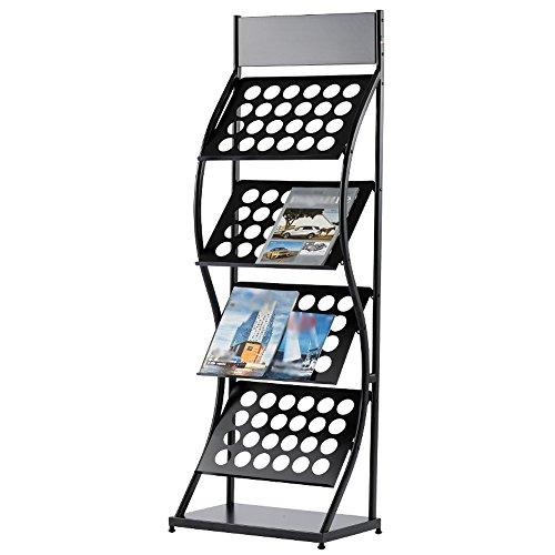 Porte-magazines et porte-journaux Etagères De Magasin Black Iron Simple Bookstand Landing Office Display Stand (taille : 50 cm)