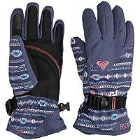 Roxy Jetty–Guantes de esquí/Snowboard para niña, Niñas, Color Crown Blue_Indie Stripes, tamaño FR : L (Taille Fabricant : L)