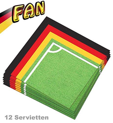Servietten ' Fan Deutschland' Fanartikel EM WM Partydekoration Partyzubehör