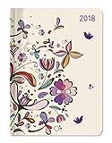 """Agenda settimanale Ladytimer 2018 """"Flower Art"""" 10,7x15,2 cm"""