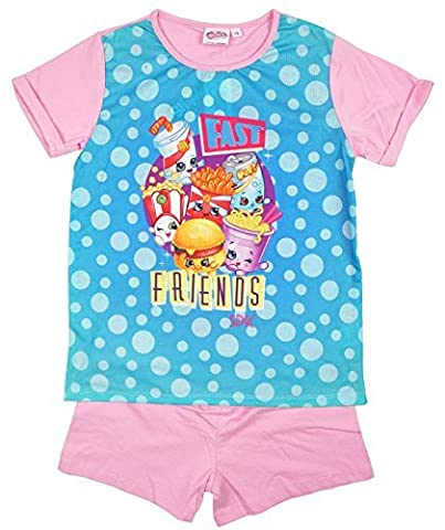 Girls Shopkins Fast Friends Cheddar Wise Fry Polly Shorty Pyjamas