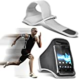 ( White ) Samsung I9300I Galaxy S3 Neo Universal Sports Lauf Jogging Ridding Bike Cycling Gym Arm-Band-Kasten-Beutel-Abdeckung von Spyrox