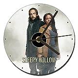 MasTazas Sleepy Hollow Tom Mison Nicole Beharie Tischuhren CD Clock 12cm
