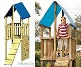 Spielturm mit Klettersteg und Kletterwand, Modell