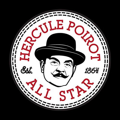 Hercule Poirot All Star Converse Logo Men's T-Shirt Black