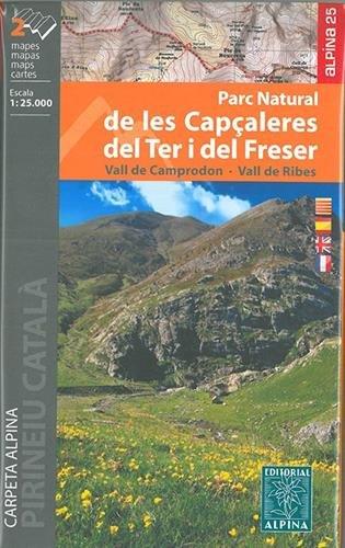 Parc Natural de les Capçaleres del Ter i del Freser. 2 mapas. Mapa excursionista. Escala 1:25.000. Editorial Alpina. por VV.AA.