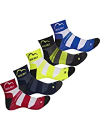 5 Pack More Mile Cushioned Padded Coolmax Sports Running Socks