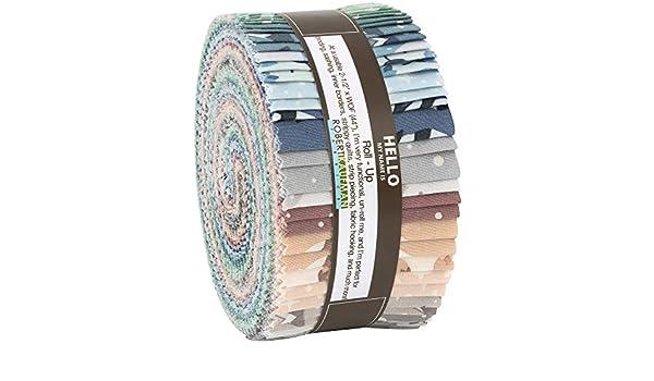 Robert Kaufman Fabrics Pond by Elizabeth Hartman Roll Up 40 Kona Cotton Strips