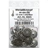 8 Metall Knöpfe altsilber 17 mm