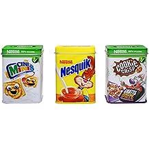 tanner 0063.4 - Metalldosen Set, Cookie Crisp, Nesquik, Cini Mini