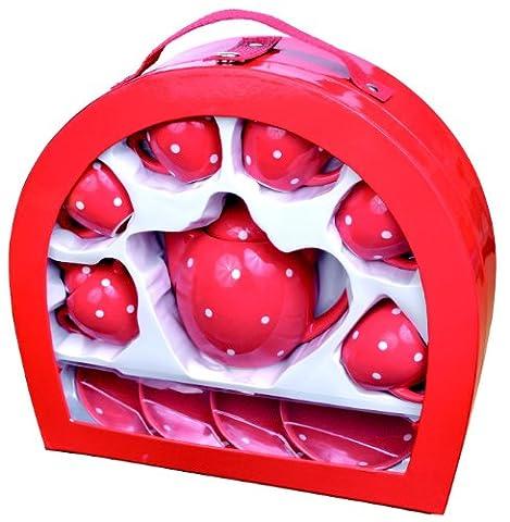Fuchs Porzellan Picknick-Set In Fall (Porzellan Spielzeug)
