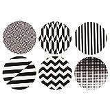 Untersetzer aus Kork in 3 verschiedenen Designs, 6er-Set