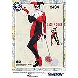 Simplicity 8434 AA (10-12-14-16-18) Misses Knit DC Bombshell Harley Quinn Disfraz, Papel, Blanco, 22,27 x 15,27 x 1,27 cm