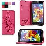 COOVY® Cover für Samsung Galaxy S5 SM-G900F SM-G901F Neo SM-G903F Case Wallet Schutz Etui mit Kartenfach, Standfunktion + Sch