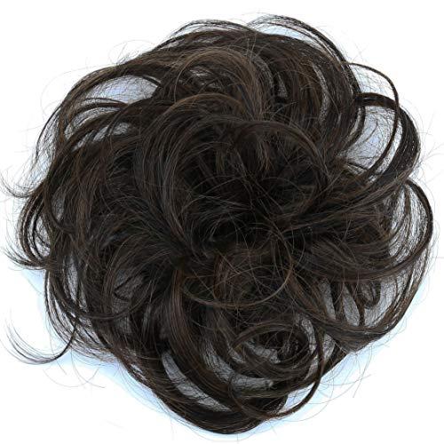 PRETTYSHOP 100% accesorios para el cabello banda de pelo engrosamiento del pelo postizo postizo scrunchy Cabello humano Cabello humano trenza div. Colores