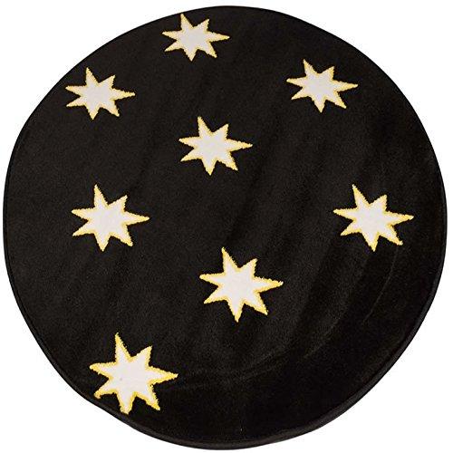 Starry schwarz Glow in the Dark, runde Teppich 100x 100cm