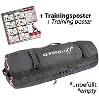 GYMBOX® Bolsa de Arena/Saco Búlgaro/Sandbag/Bolso de Peso/Fitness Bag/Power Bag   Entrenamiento Muscular/Funcional/de Pesas   Puede Estar llenado con Arena   Negro, 50 kg   vacío