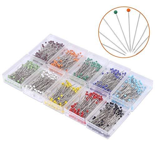 las Ball Head Colorful 38mm lang für Nähen Quilten Pins Karte Tack Ornament DIY Craft 1000 Pieces ()