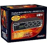 Prodipe 4i4o Interface MIDI/Câble MIDI USB Noir