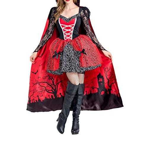 Erwachsene Fancy Party 2pcs Halloween Vampir Gräfin Cosplay -