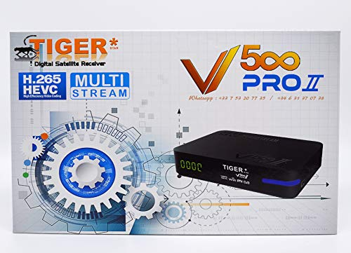 Tiger V500 Pro 2 + 12 Months HD Server + 12 Months IPTV + VOD Unlimited