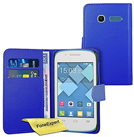 FoneExpert® Alcatel One Touch Pop C1 - Etui Housse Coque en Cuir Portefeuille Wallet Case Cover pour Alcatel One Touch Pop C1 + Film de Protection d'Ecran