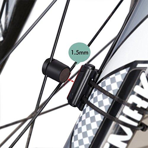 MPTECK @ Fahrradcomputer LCD Wasserdicht Fahrrad Fahrradtacho mit LCD Hintergrundlicht und Multifunktions für Tracking Geschwindigkeit und Distanz - 4