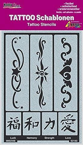 Kreul Hobby Line Tattoo Schablone Bänder 2, 1 Stück (Künstler Kostüm-ideen)