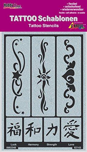 too Schablonen, Bänder 2, 1 Stück (Zeichen Tattoo)