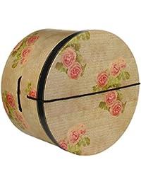 Lierys Hutschachtel Hutbox Hutkoffer Antique Roses 34 cm für Damen Hutbox Hutschachtel Winter Sommer