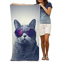 Macevoy gafas de sol gato adulto Super absorbente toalla de playa toallas de playa