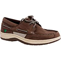 Gul Falmouth Leather Boat Shoes for Sailing Yachting - Deck Shoes Shoe TAN - Breathable - Functional lacing system