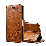 GH GHawk Leder Brieftasche Case für Ulefone Power 3/Power 3S Leder Brieftasche Case, 3D-Retro-Druck Keine Verschmutzung PC + PU Leder Hülle Flip Tasche Schutzhülle Case