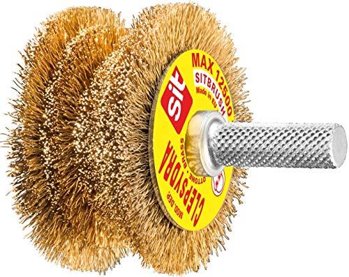 SIT 0883 Bürste für Bohrmaschine, Messing, Ondulato-Clepsydra in Blister-Ø: 60-40 mm