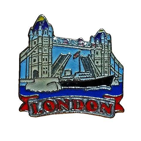 Charmant britannique Tower Bridge/pont de Londres décoratifs Épinglette. souvenir/Speicher/Memoria. Un détaillée à collectionner. Épinglette/Anstecknadel/Spilla/Perno de la Solapa.
