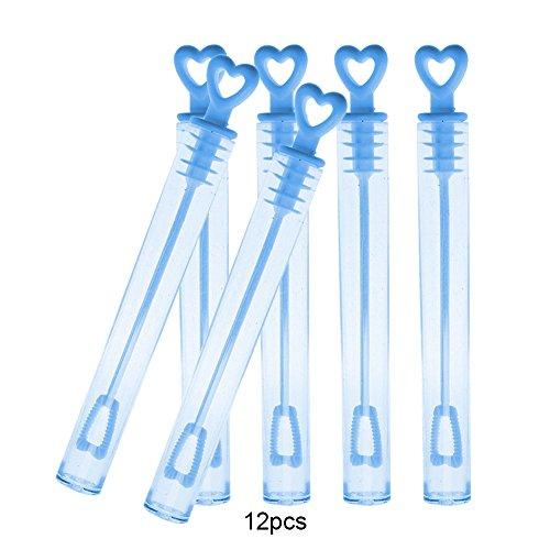 Rosa Lotion Seife (AchidistviQ 12Herz leer Bubble Seife Flaschen Maker Hochzeit Party Dekorationen Kinder Spielzeug blau)