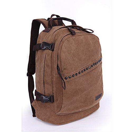 &ZHOU Segeltuchtasche, Canvas Rucksack Freizeit Trends der Männer und Frauen reisen Tasche Rucksack Laptop-Tasche coffee